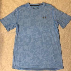 Men's underarmour ocean blue shirt